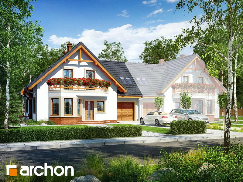 gotowy projekt Dom pod pistacją 2 (B) widok 1