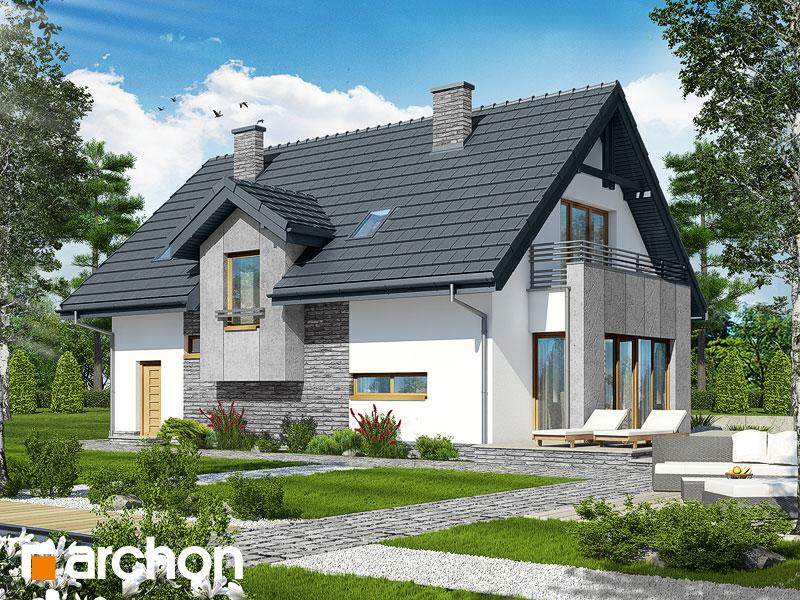 gotowy projekt Dom w miskantach widok 1
