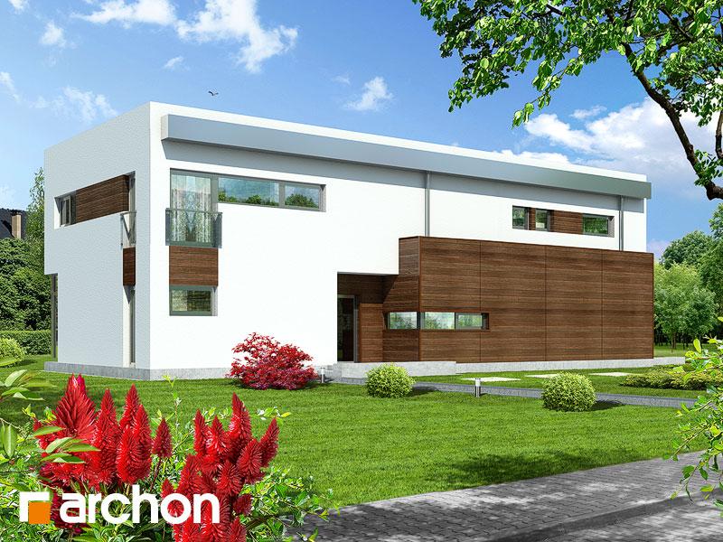 gotowy projekt Dom w karaganach widok 2