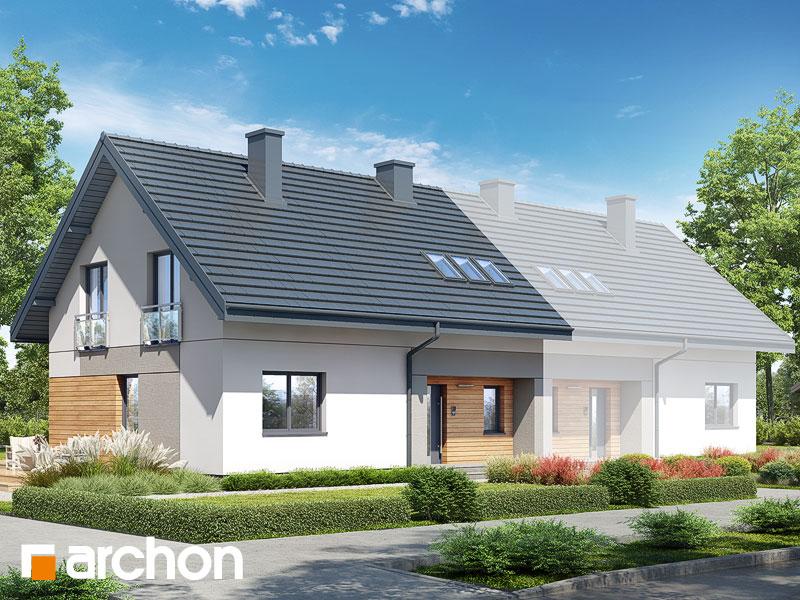 gotowy projekt Dom w malinówkach 11 (B) widok 1