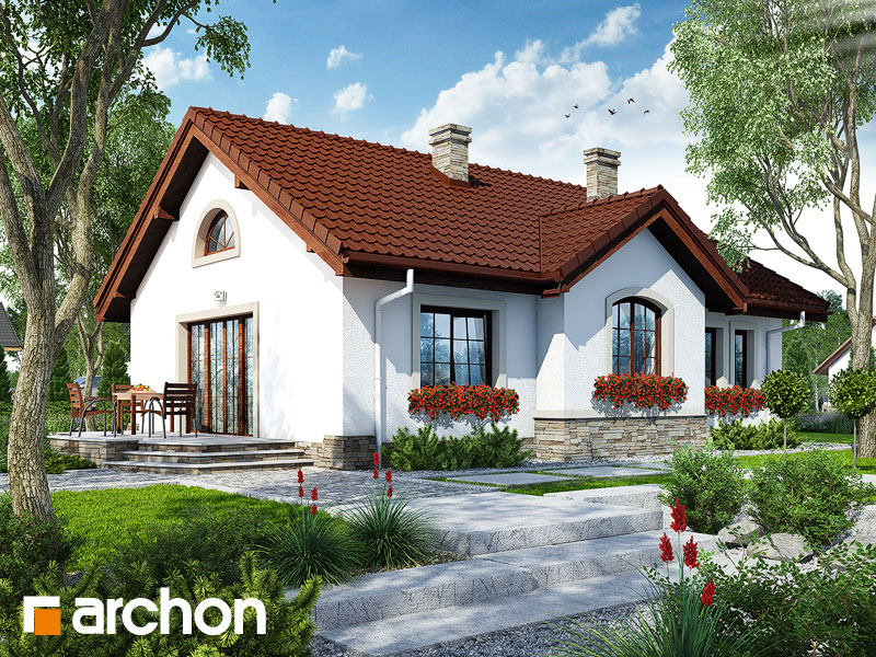 gotowy projekt Dom w gazaniach widok 2