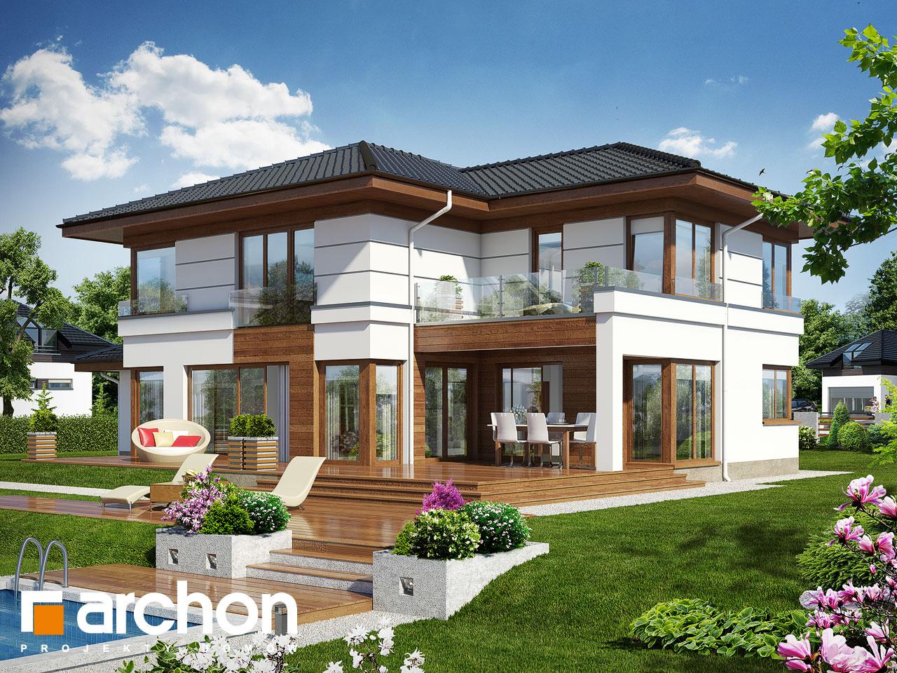 Projekt domu willa weronika 3 archon for Cubiertas para casas campestres