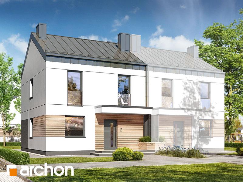 gotowy projekt Dom w arkadiach 4 (B) widok 1