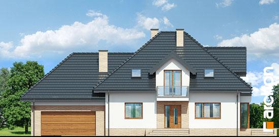 Elewacja frontowa projekt dom w werbenach 8 g2pn  264