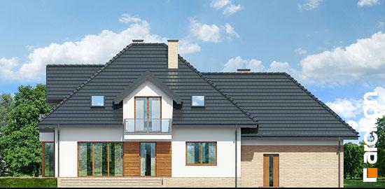 Elewacja ogrodowa projekt dom w werbenach 8 g2pn  267