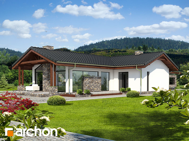 gotowy projekt Dom w elismach widok 1