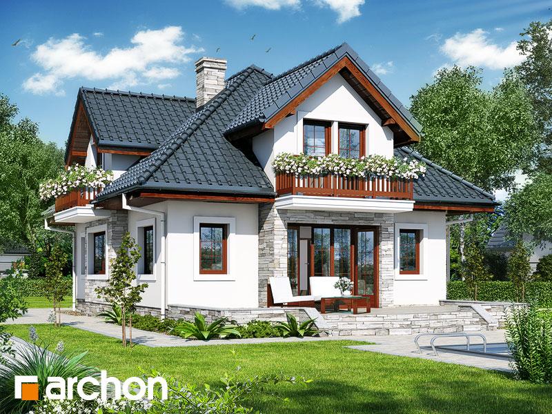 gotowy projekt Dom w wanilii widok 1