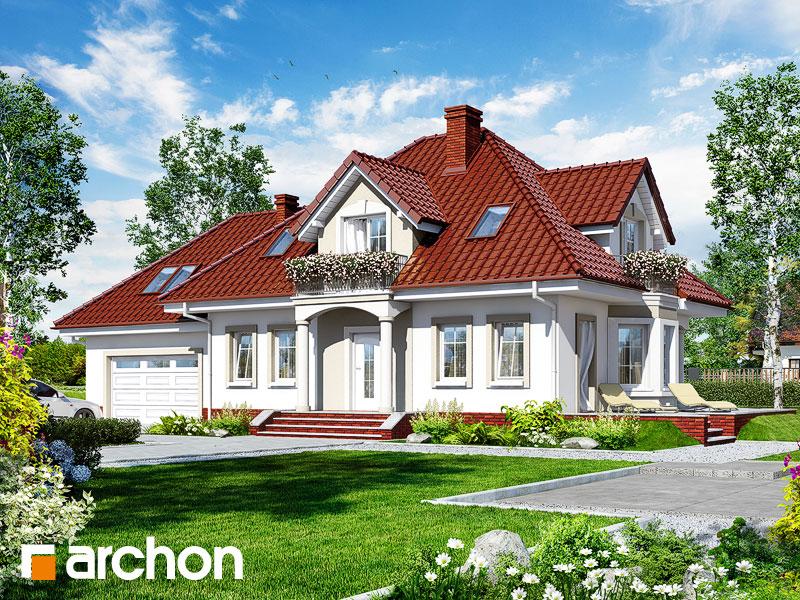 gotowy projekt Dom w lewkoniach (G2P) widok 1