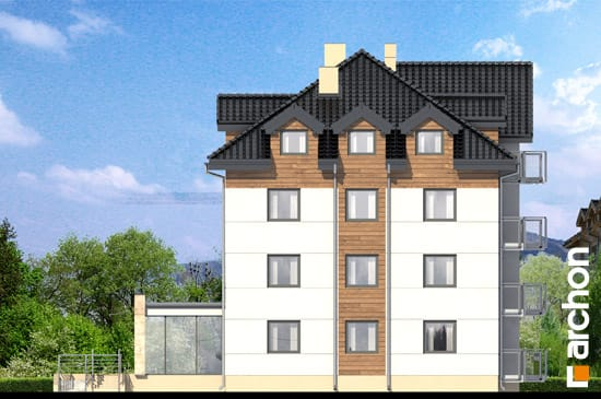 Elewacja boczna projekt dom nad bulwarem 10  265