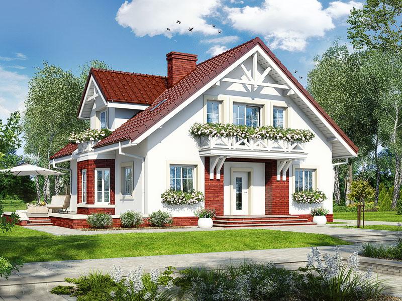 gotowy projekt Dom w helikoniach (P) widok 1