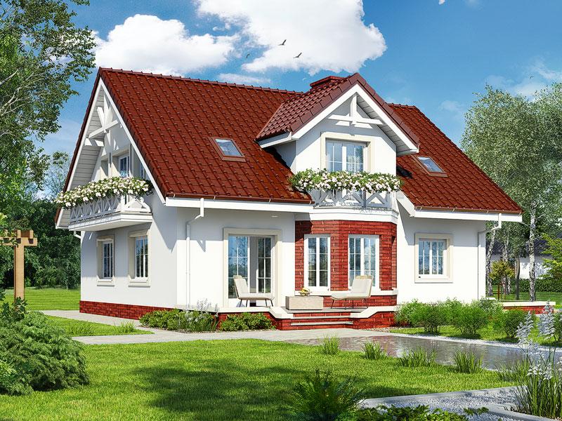 gotowy projekt Dom w helikoniach (P) widok 2