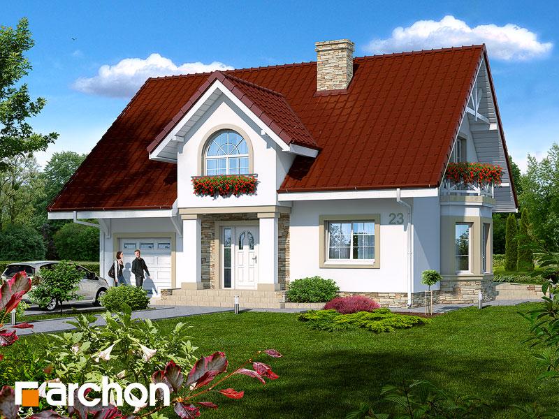 gotowy projekt Dom w roszpunkach widok 1