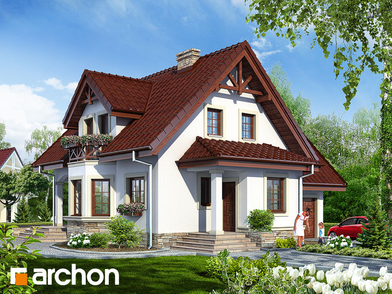 gotowy projekt Dom w żurawinie (G) widok 1