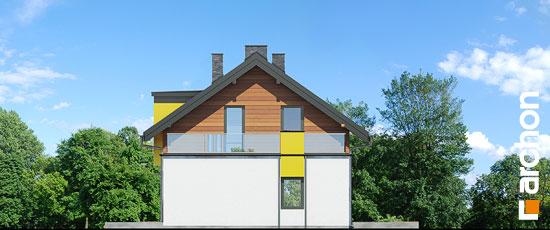 Elewacja boczna projekt dom w laurach  265