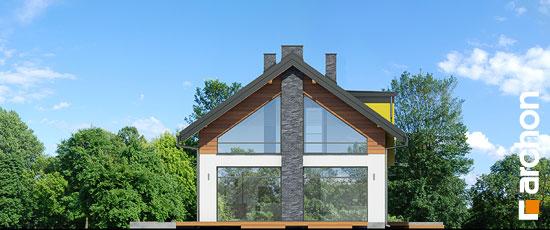 Elewacja boczna projekt dom w laurach  266