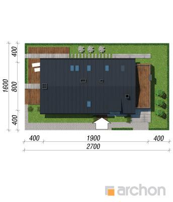 projekt Dom w laurach sytuacja