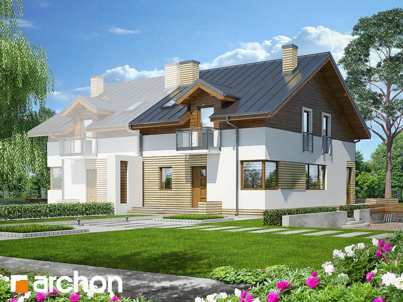 projekt Dom w czernicach (B) widok 1