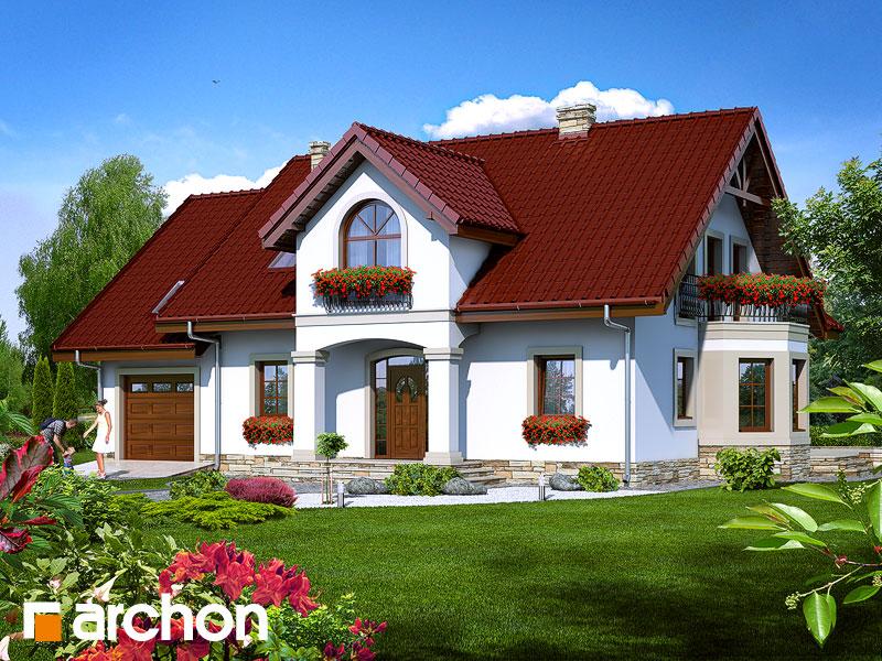 projekt Dom w żeniszkach widok 1