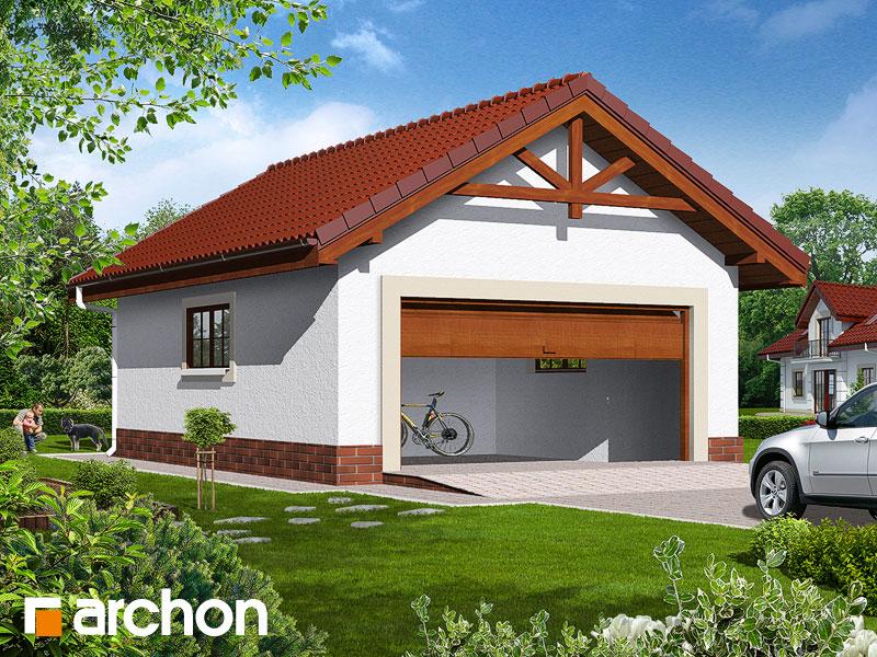 projekt Garaż 2-stanowiskowy G6b widok 1