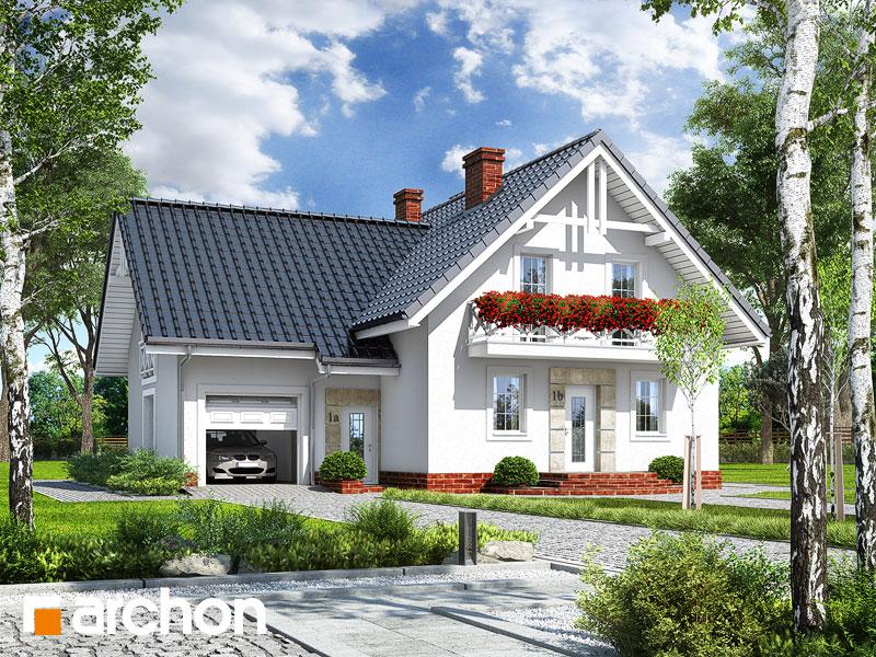 projekt Dom w michałkach widok 1
