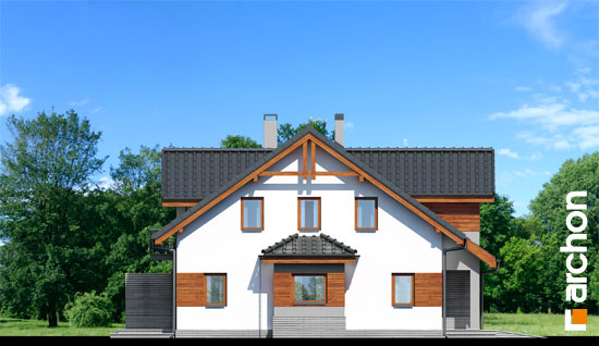 Elewacja boczna projekt dom w klematisach 9  266