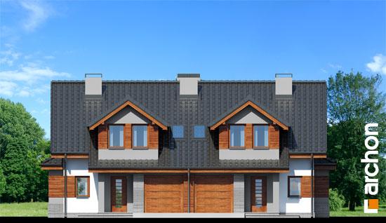Elewacja frontowa projekt dom w klematisach 9  264