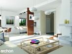 projekt Dom w klematisach 9 Strefa dzienna (wizualizacja 1 widok 1)