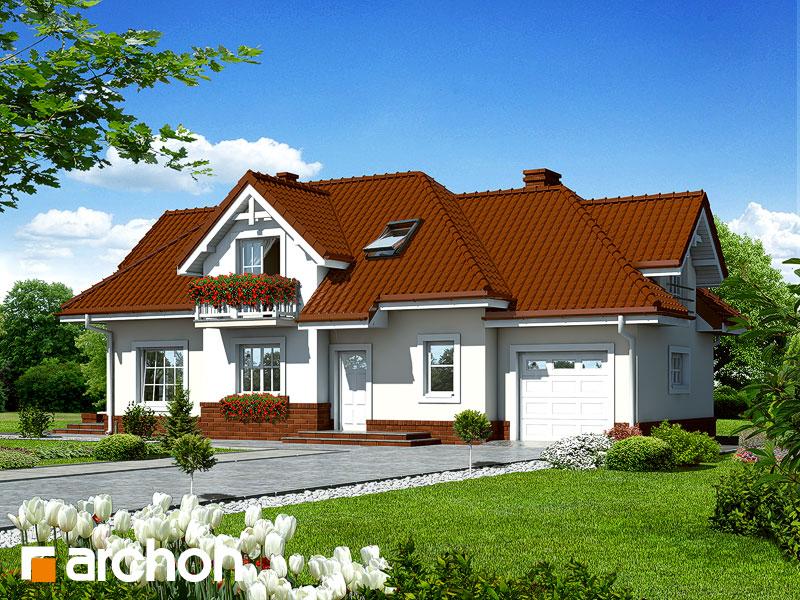 gotowy projekt Dom w łubinie 2 widok 1