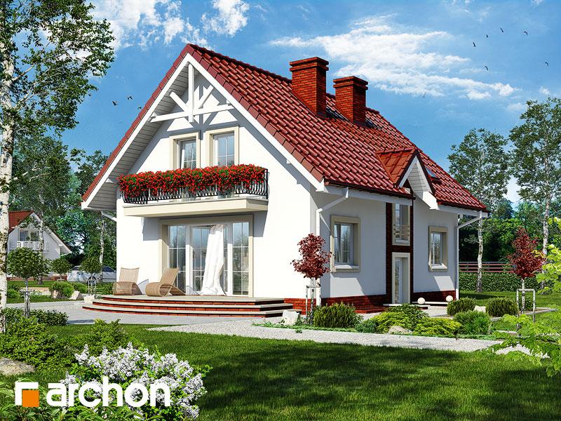 gotowy projekt Dom w kolendrze (P) widok 2