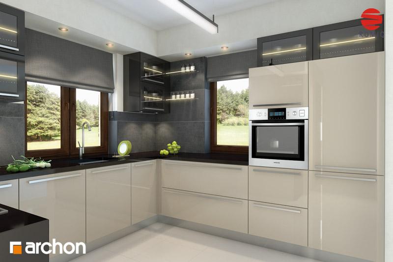 Projekt domu Dom w rododendronach 6 (W) ver 2  ARCHON+ -> Kuchnie Prowansalskie Zdjecia