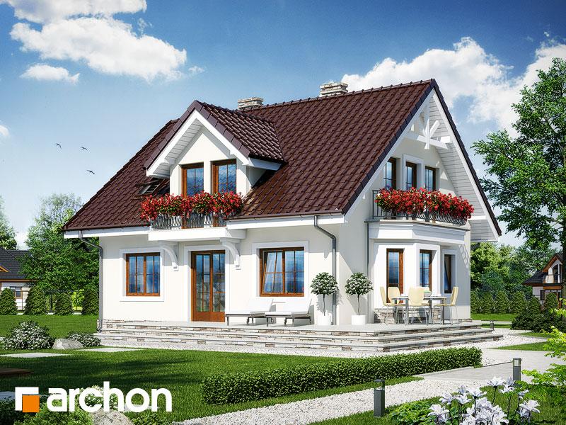 gotowy projekt Dom w rododendronach 6 (W) widok 1