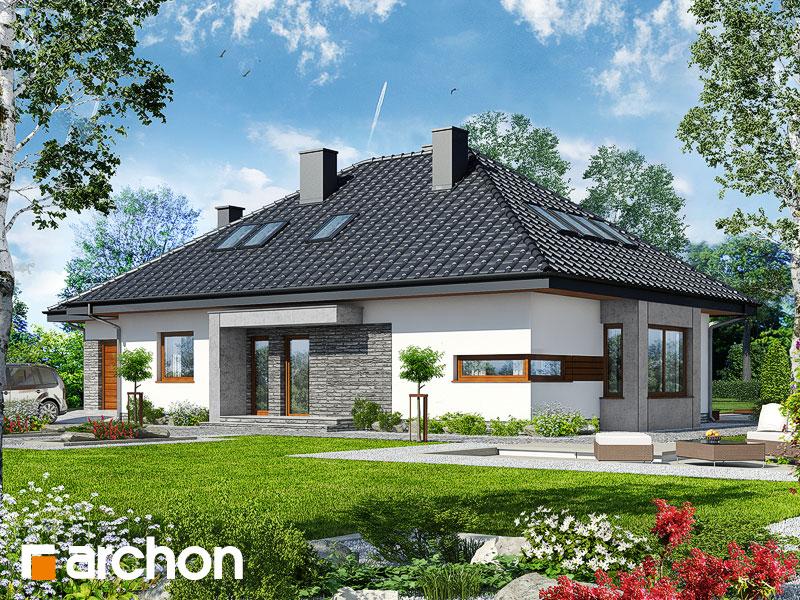 gotowy projekt Dom pod jarząbem (GPDN) widok 1