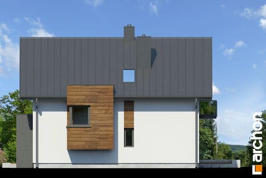 Elewacja boczna projekt dom pod graviola  265