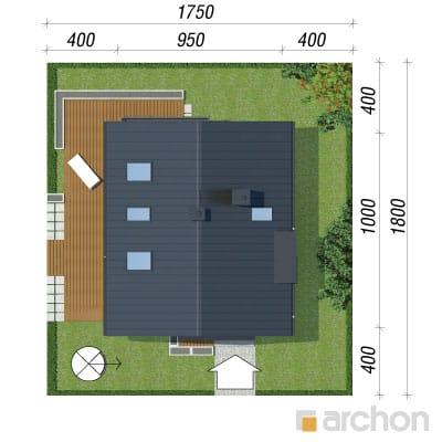 projekt Dom pod graviolą sytuacja