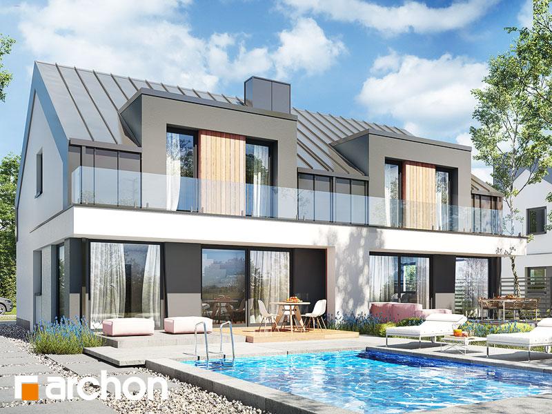 gotowy projekt Dom w klematisach 27 (R2) widok 1