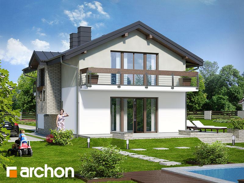 gotowy projekt Dom w budlejach (W) widok 1