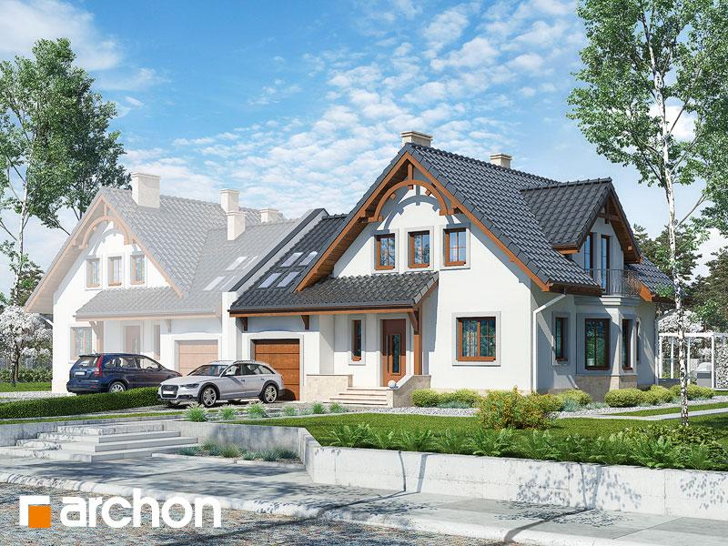 gotowy projekt Dom w tamaryszkach 2 (B) widok 1