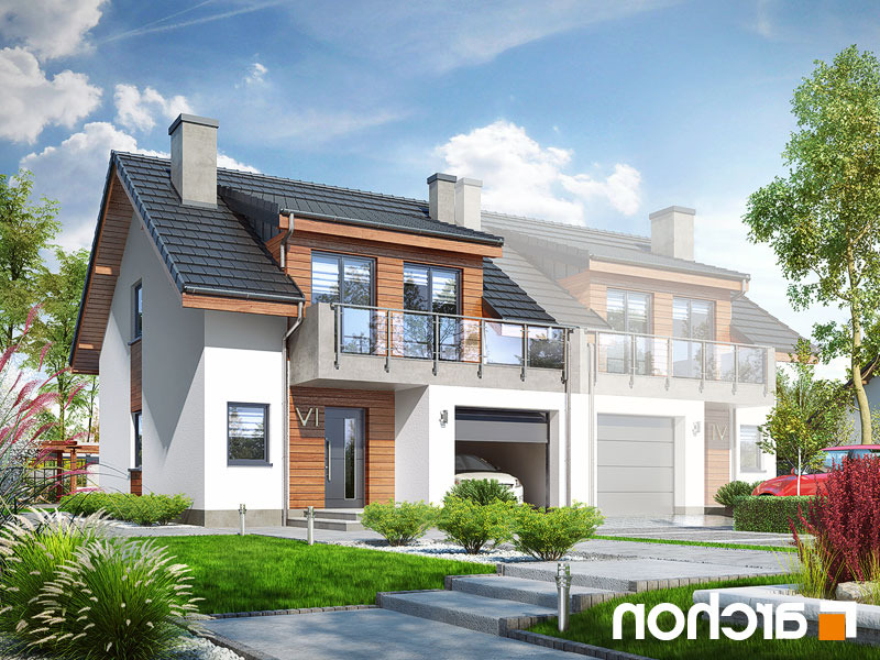 Lustrzane odbicie 1 projekt dom w klematisach 20 b  289lo