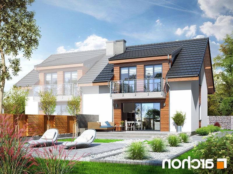 Lustrzane odbicie 2 projekt dom w klematisach 20 b  290lo