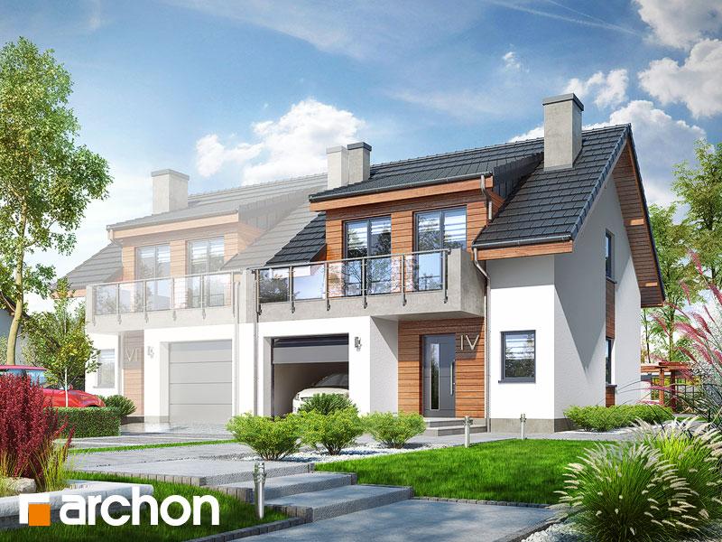 Widok 1 projekt dom w klematisach 20 b  289