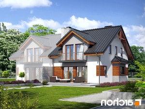 projekt Dom w klematisach 9 (B) lustrzane odbicie 2