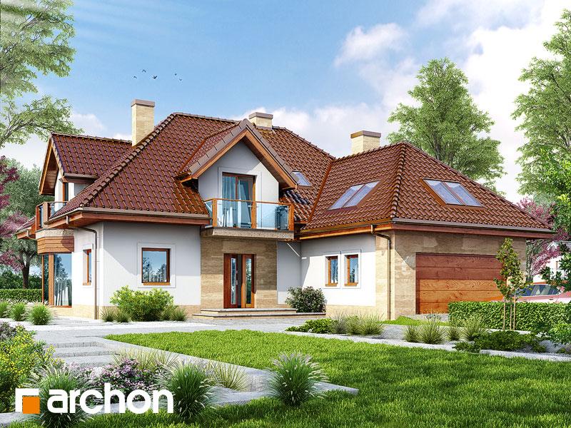 gotowy projekt Dom w georginiach widok 1