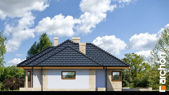 Elewacja boczna projekt dom w modrzykach  266