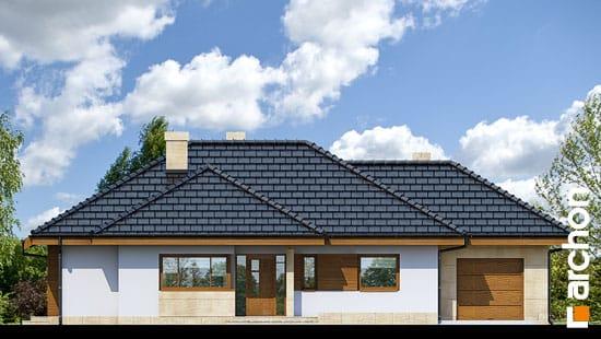 Elewacja frontowa projekt dom w modrzykach  264