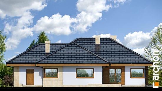 Elewacja ogrodowa projekt dom w modrzykach  267