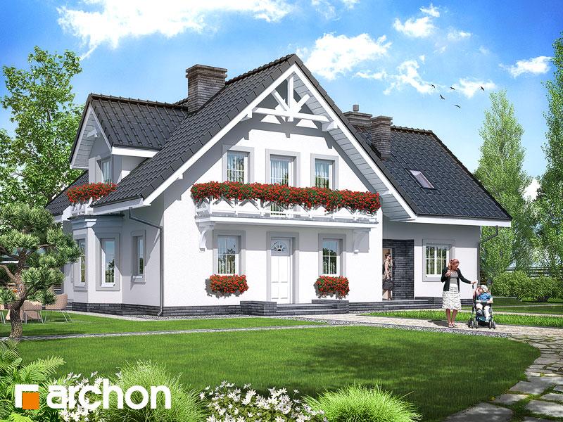 gotowy projekt Dom w borowikach (P) widok 1