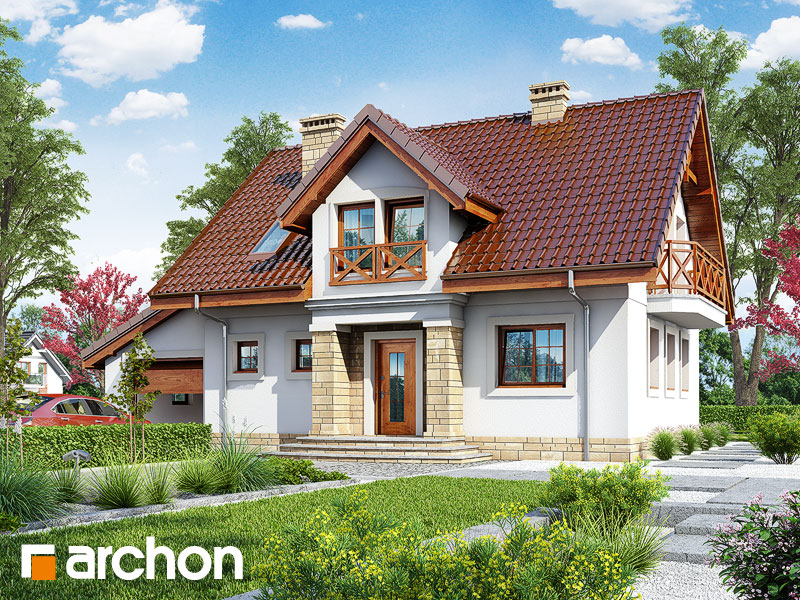 gotowy projekt Dom w rezedach widok 1