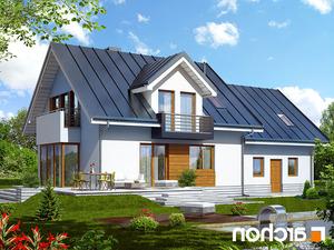 projekt Dom w rododendronach 6 (G2N) lustrzane odbicie 2