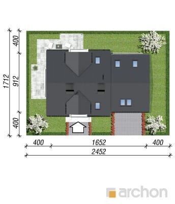 projekt Dom w rododendronach 6 (G2N) sytuacja