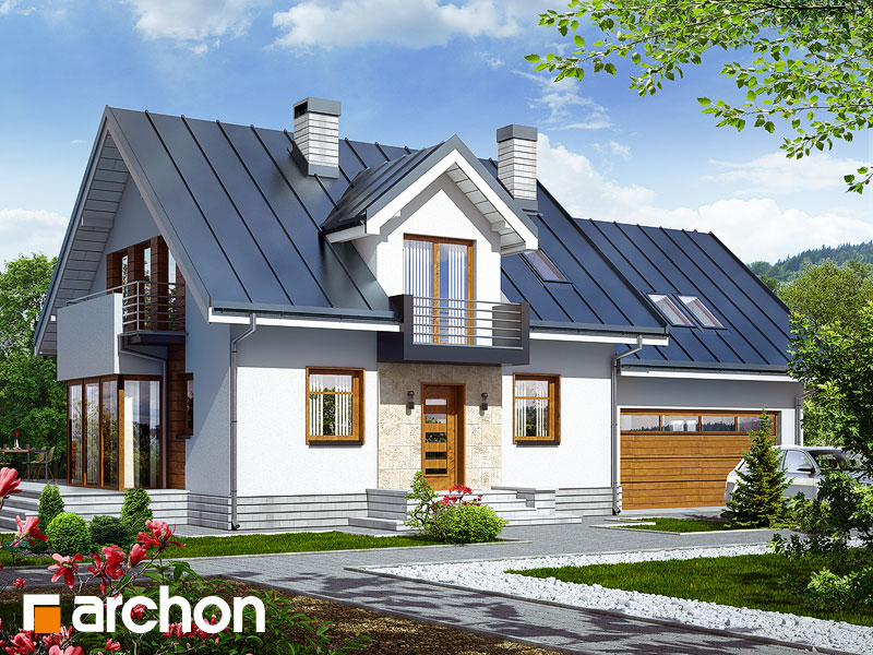 gotowy projekt Dom w rododendronach 6 (G2N) widok 1